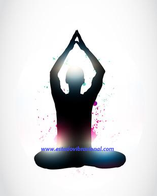vector abstract meditation yoga